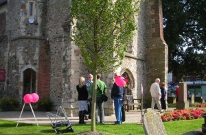 Visitors waiting to be admitted to the Library during Heritage Open Weekend